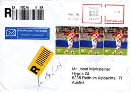 Auslands- Rekobrief Von 21106 Split Mit 3x 10 Kuna Luka Modric Modrić Fußball 2019 - Kroatien