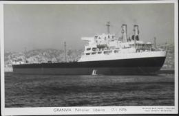 CPSM. - Carte-Photo > Bateaux > Pétroliers > GRANVIA Pétrolier Libéria - 17.1.1976 - TBE - Tankers