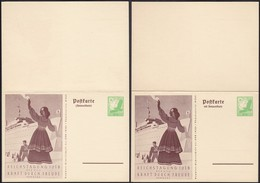 Germany 1938 - K.d.F. Air Mail Stationery W. Reply Card. Luftpost Ganzsache, MiNr. P 247 F+A. - Deutschland