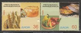 Macedoine Europa 2005 N° 338/ 339 ** Gastronomie - Europa-CEPT