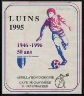Etiquette De Vin // Luins 1995, Football-Club PTT Lausanne - Soccer
