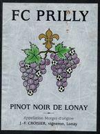 Etiquette De Vin // Pinot Noir De Lonay, F.C. Prilly - Football