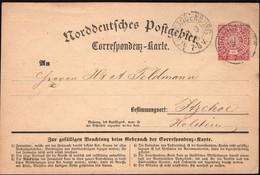 Germany - NDP, North German Confederation Postcard, Uprated W. 1 Gr., NEUBRANDENBURG 15.9.1870. - Norddeutscher Postbezirk