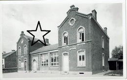Carte Photo - TOURINNES-St-LAMBERT - L'Ecole Communale Et Maison (Epreuve Avec Remarque Et Indication Pour Tirage) - Walhain