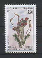 SPM MIQUELON 1995 N° 611 ** Neuf MNH Superbe C 1.70 € Fleurs Cladonia Cristatella Dicranum Flowers Flore Flora - Neufs
