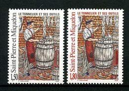 SPM MIQUELON 1995 N° 612/613 ** Neufs MNH Superbes C 1,80 € Le Tonnelier Outils Tools - Neufs