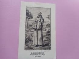 DEVOTIE -BROEDER BERNARDUS -MONACHUS VILLERIIN+XIIISAEC. - Religione & Esoterismo
