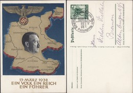Adolf H. Stationery Postcard (P 268),'Ein Volk Ein Reich Ein Führer! Annexation Of Austria. BREMEN 25.5.1938. - Duitsland