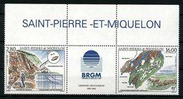 SPM MIQUELON  1995 N° 619A ** Neuf MNH Superbe C 9,20 € Missions Géologiques Minéraux Minérals Zircon ïles Carte - Neufs