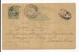 Postal Stationery Portugal Coimbra 1902 - Postal Stationery