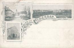 AK - Tschechien - ODERSCH (Oldrisov) - Ortszentrum, Schule, Kirche, Warenhaus, Panorama 1900 - Tschechische Republik