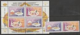 Turquie Adm. Chypre Europa 2005 N° 573/ 574 Et BF 22 ** Gastronomie - 2005