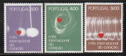 PORTUGAL - N°1147/9 ** (1972) Coeur - 1910-... Republik