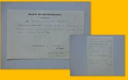 Châtellerault 1853 Fourniture De Pain à La Classe Nécessiteuse Ref 387 ; PAP04 - Handtekening