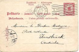 SH 0025 - BAVIERE CPRP 54 Complète 1906 - Ayant VOYAGE Dans Les 2 SENS : PRIEN/BRUXELLES Et BRUXELLES/INNSBRÜCK. RARE - Stamped Stationery