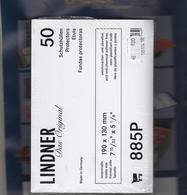 Etuis Transparents Lindner Format 190 X 130 Cm Par Paquet De 50 Pièces Neufs Réf. 885 P - Sobres Transparentes