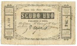 1 SCUDO BANCA DELLO STATO PONTIFICIO 1854 MB/BB - Altri