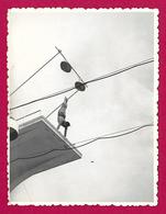 Trois Photographies En Noir Et Blanc - Maroc - Meknès - Le Champion De Plongeon André Blaty En 1955 - Persone Identificate