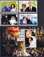 2019-0179 British Antarctic Territory 2018 Royal Wedding Complete Set+MS MNH ** - Britisches Antarktis-Territorium  (BAT)