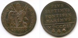 M 08 - VATICANO - PIO VII - 1 BAIOCCO - 1802 - Vaticano