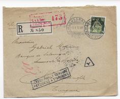 SUISSE - 1917 - ENVELOPPE RECO De LAUSANNE RETENUE PAR LA CENSURE à GALATA VOIR DOS => CONSTANTINOPLE (TURQUIE)=> RETOUR - Storia Postale