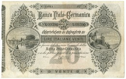 20 LIRE NON EMESSO CERTIFICATO DI DEPOSITO BANCA ITALO-GERMANICA 187_ QBB - Altri