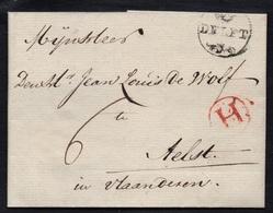 PAYS BAS - NETHERLANDS / 1702 DELFT LAC POUR AELST (ref 5074) - ...-1852 Préphilatélie