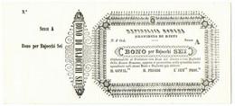 6 BAJOCCHI NON EMESSO MATRICE PROVINCIA RIETI REPUBBLICA ROMANA 06/04/1849 QFDS - Italia
