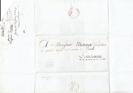 1803 Vorphilabrief Mit Stempel Bern Verwaltunskammer An President Des Kleinen Rates Kanton Waadt In Lausanne - Suisse
