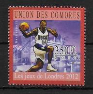 COMORES   N° 2019  * *  Jo 2012  Basket - Basket-ball