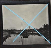 Photo BORNEM Wilrijk Puurs Sint Niklaas 1897 Binnenscheepvaart Kanaal Schelde Oude Huizen Péniche Antwerpen - Orte
