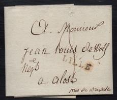 """MP """"57 / LILLE"""" /1801 LAC POUR ALOST (ref 5164) - 1801-1848: Précurseurs XIX"""