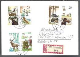 RECOMMANDÉ DE NIEDERWIESA - THÈME CHASSE - - Briefmarken