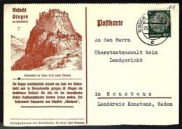 CARTE LETTRE EN PROVENANCE DE SINGEN HOHENTTVIEL - 1941 - - Storia Postale