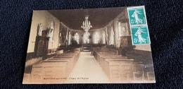 CP 27 MONTIGNY Sur AVRE Choeur De L'Eglise  ( AUTEL  église CHAIR ) Colorisée - France