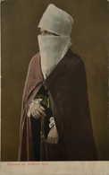 Types Turque // Femme En Costume Turc 191? Stamp Remouved - Afrika