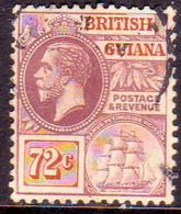 BRITISH GUIANA 1915 SG #268 72c Used Wmk Mult.Crown CA CV £100 - British Guiana (...-1966)
