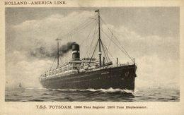 TSS POTSDAM  Holland America Line Cruise Ship - Paquebote