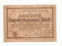 Billet ,Allemagne , 100000 Mark , STADT Bonn-land ,  1923,2 Scans - [ 3] 1918-1933: Weimarrepubliek