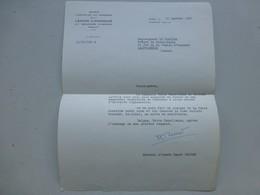 Général Henri ZELLER, Légion D'honneur 1967, Lettre à Mgr LeCordier Ref 368 ; PAP04 - Autogramme & Autographen