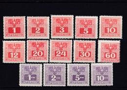 Österreich, Portomarken, Nr. 175/88** (T 12173) - Ganze Jahrgänge