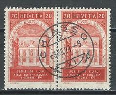 SBK 167 Paar Stempel Chiasso - Storia Postale