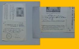 Guerre 14-18 Médaille De La Marne Décernée à Mgr LeCordier (juin 1940) Ref 365 ; PAP04 - Autogramme & Autographen