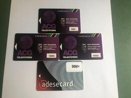 Tanzania - 4 Different Magnetic Cards - Tanzania