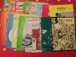 16 Revues Butterfly, English-French Magazine. Revue Pédagogique1962-1974 - Pédagogie