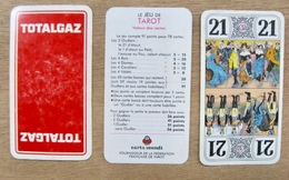 JEU DE 78 CARTES TAROT SANS ETUI TOTALGAZ TOTAL GAZ CARTA MUNDI - Cartes à Jouer Classiques