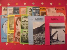 16 Revues Butterfly, English-French Magazine. Revue Pédagogique1963-1976 - Pédagogie