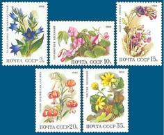 USSR 1988. Deciduous Forest Flowers.  Plants. RUSSIA. Mi. # 5847-5851 - Pflanzen Und Botanik