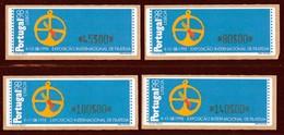 PORTUGAL - Timbres De Distributeurs - N° 12 - 4 Valeurs (1997) - Vignette Di Affrancatura (ATM/Frama)