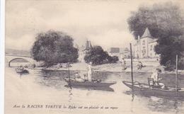 """Cpa -Publicité Ancienne Article De Peche """"avec La Racine Tortue....."""" - Reclame"""